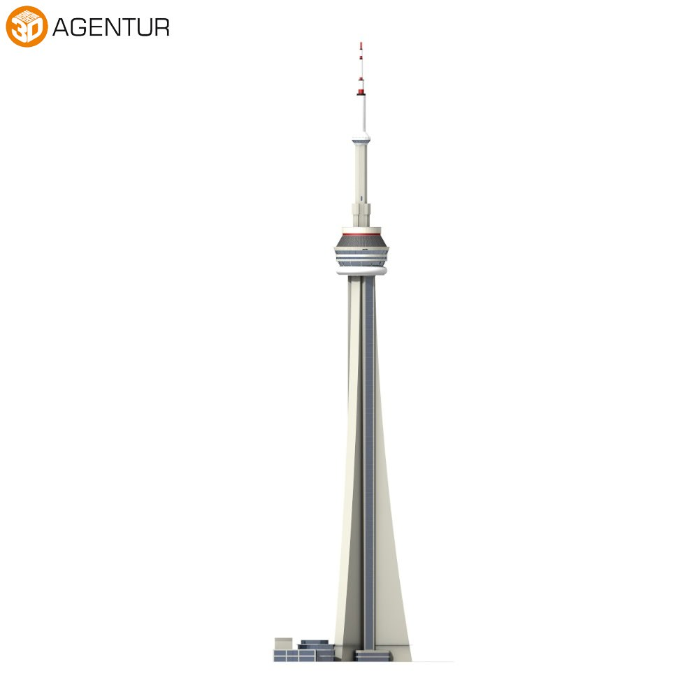 Cn Tower Canadian National Tower on 3d iphone 4 cases