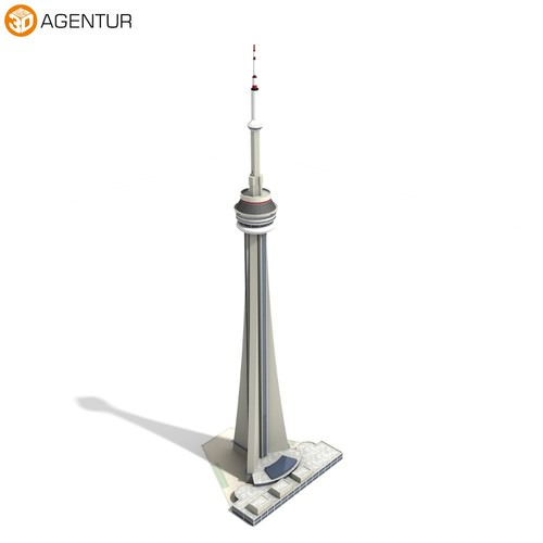Cn Tower Canadian National Tower 3d Model Max 3ds C4d Dae Skp Cgtrader Com