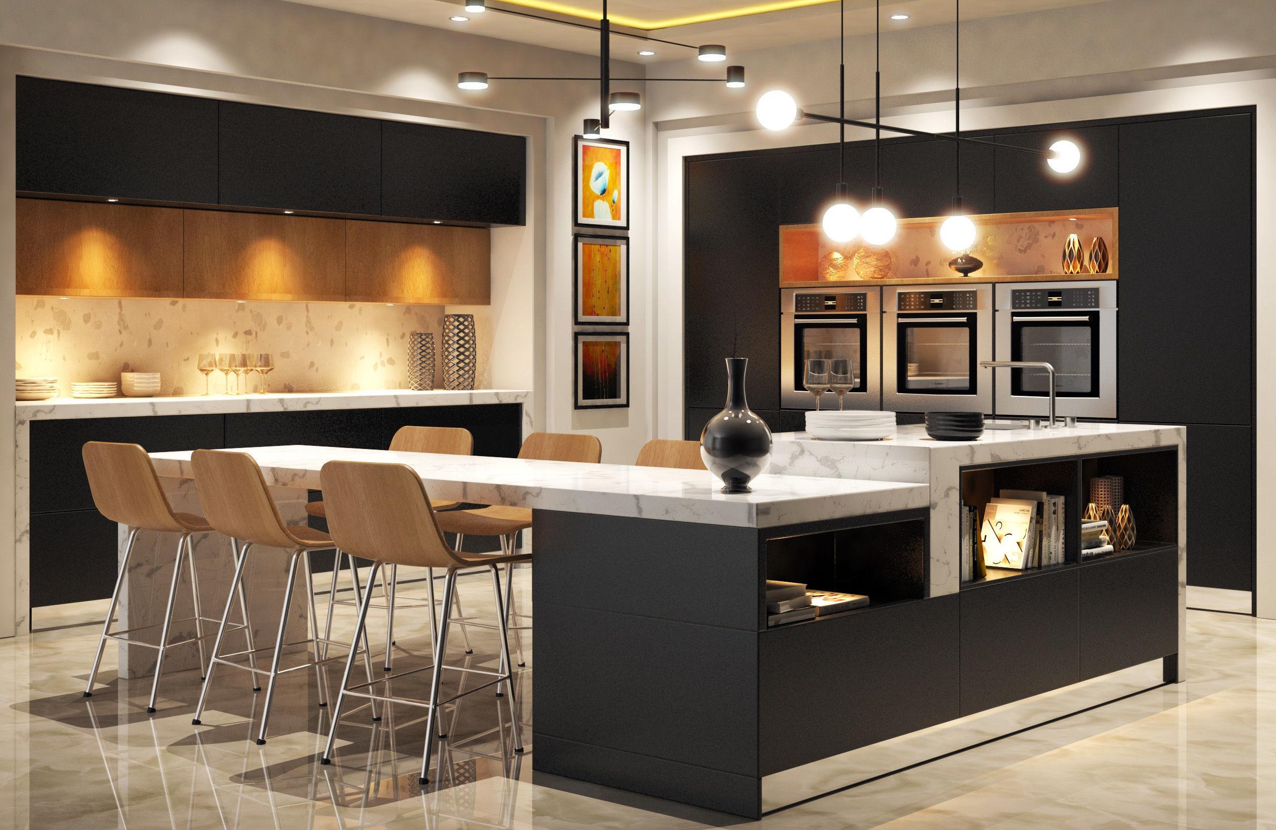3d Model House Modern Kitchen Cgtrader
