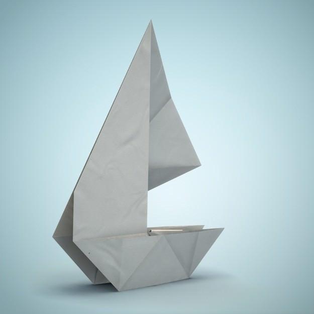origami boat 3d model  obj  fbx  dae  lxo  lxl
