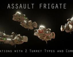 Sci-fi Assault Frigate 3D model