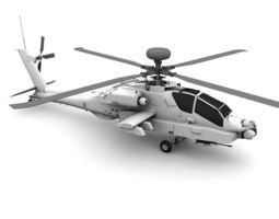 3D asset AH-64D Apache Helicopter