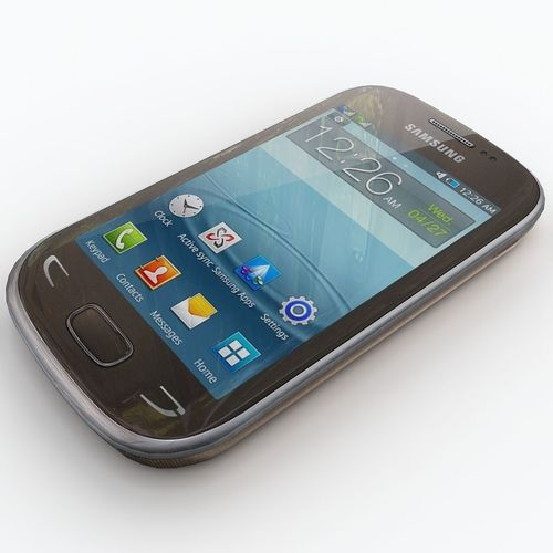 samsung star deluxe duos s5292 3d model max obj mtl 3ds dxf 1