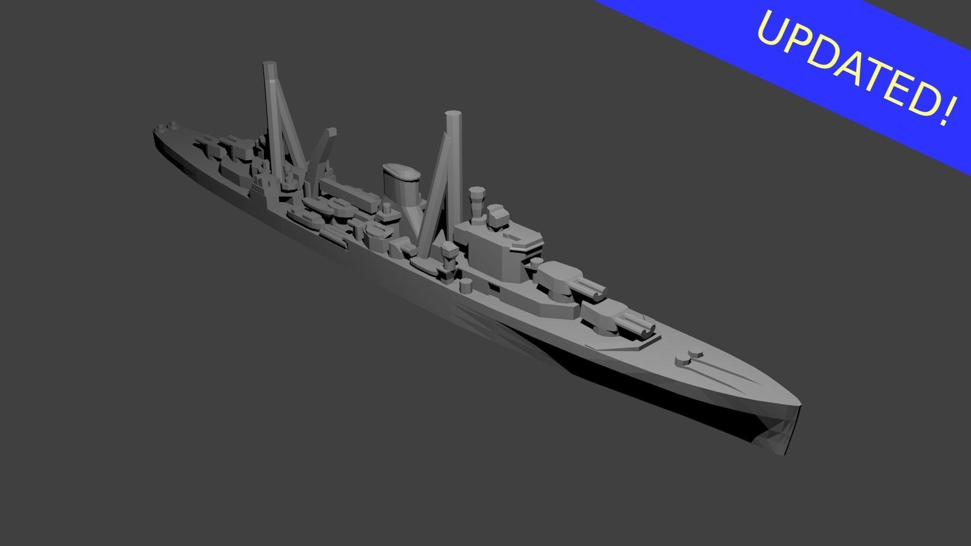 British Leander Class Cruiser Warship