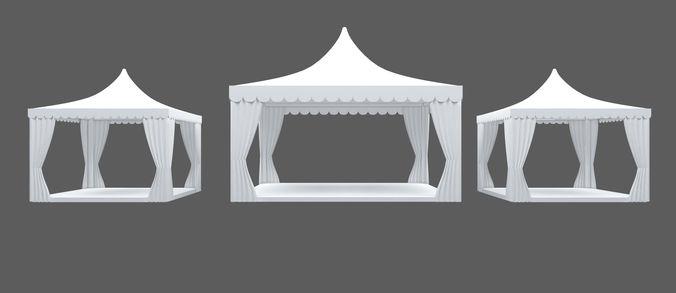 event tent 5x5 and 3x3 3d model max 1