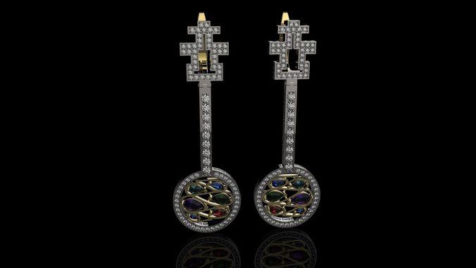 earrings shop balani 3d model stl 3dm 1