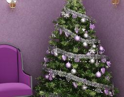 3D Christmas tree purple