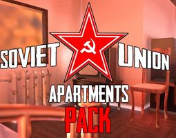 3D model Soviet union apartments pack 1 gameready