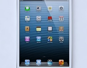 Apple ipad mini White 3D