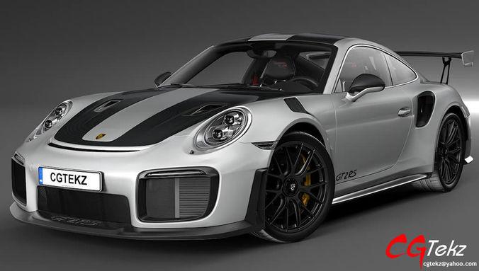 porsche 911 gt2 rs 2019 3d model max obj mtl 3ds fbx c4d stl 1