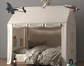 3D model Tented Bed