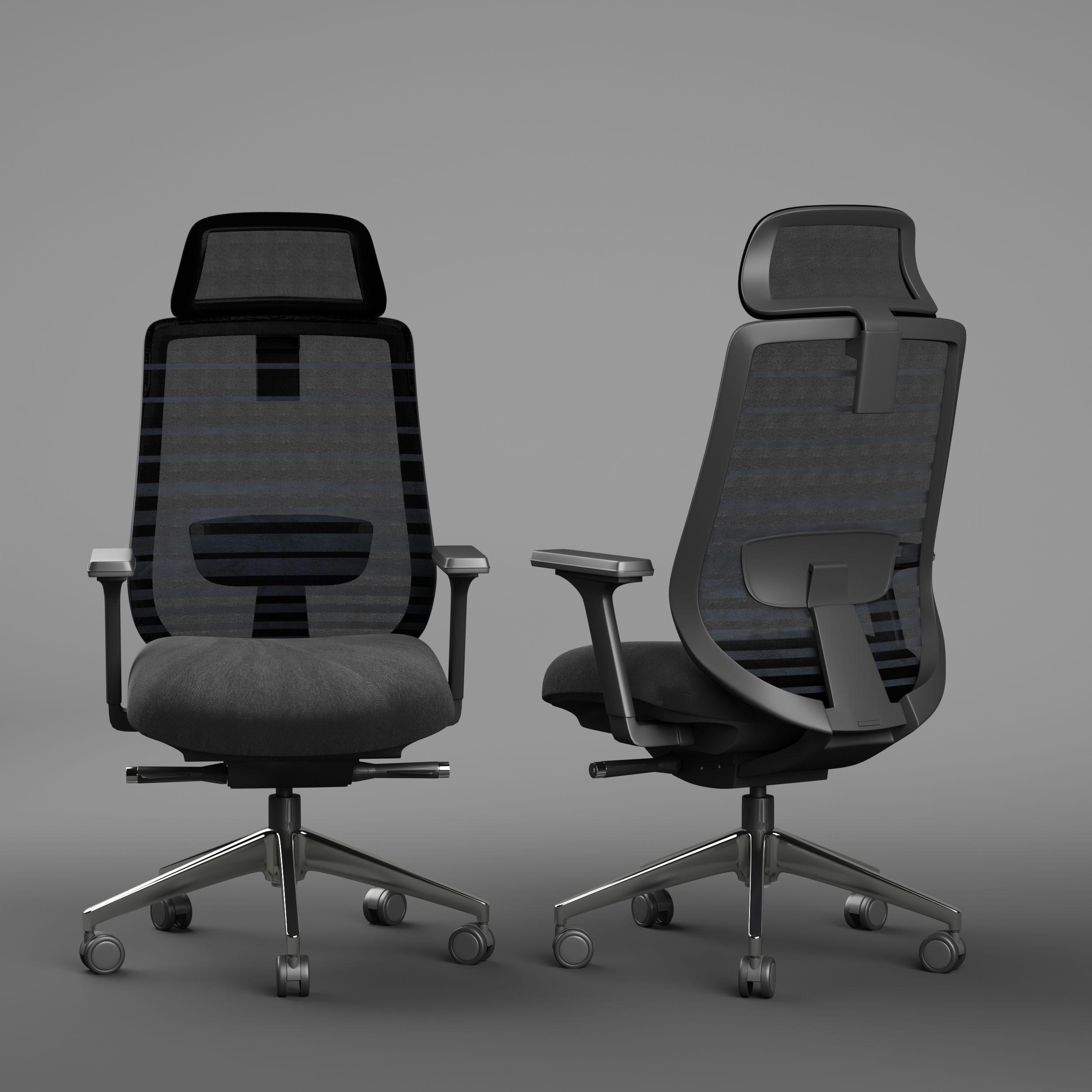 Sparta High Back Office Chair 3D model MAX BIP FBX