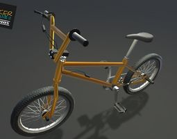 3D model Game Ready PBR Bicycle