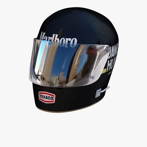 james hunt helmet 3d model obj mtl 3ds fbx c4d ma mb dae 1