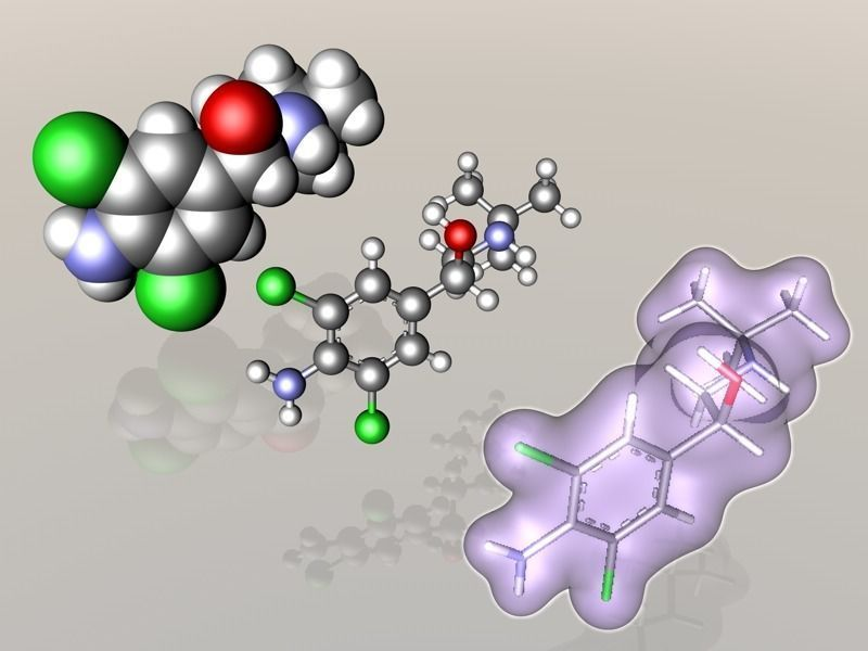Clenbuterol molecule