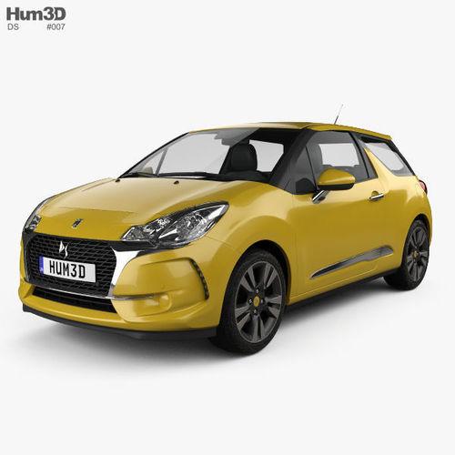 ds3 chic hatchback 2016 3d model max obj mtl 3ds fbx c4d lwo lw lws 1