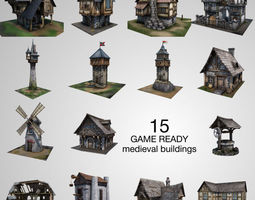 realtime 15 Medieval Buildings Model Pack