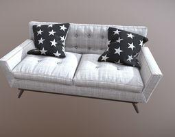 3D model PBR White Sofa
