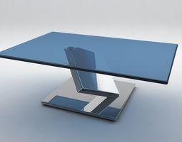 3D Ultrarealistic glass futuristic table