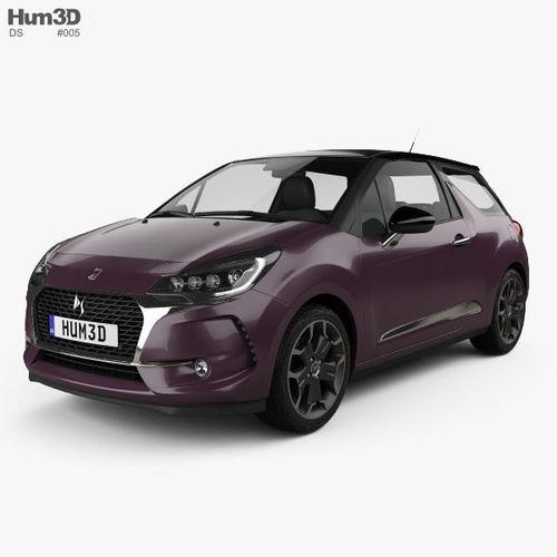 ds3 prestige hatchback 2016 3d model max obj mtl 3ds fbx c4d lwo lw lws 1