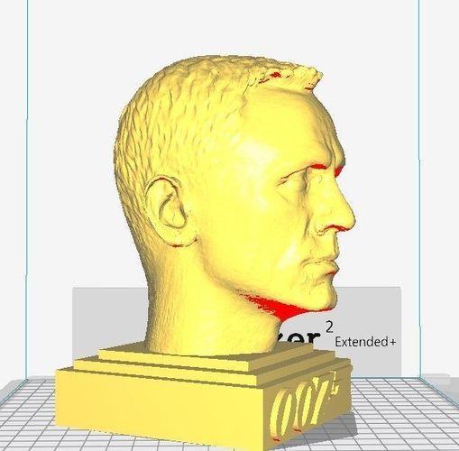 james bond - daniel craig sculpture 3d model stl 1