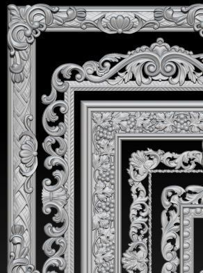 Lot of 5 pcs Carved Frame Collection