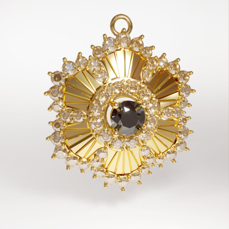 3d printable sun pendant jewelry