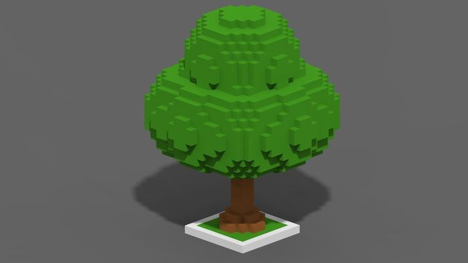 3d Model Tree Voxel 6 Cgtrader