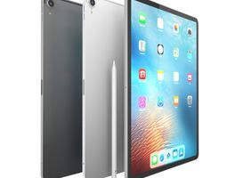 Apple iPad Pro 12 9 inch 2018 Silver and Space 3D model