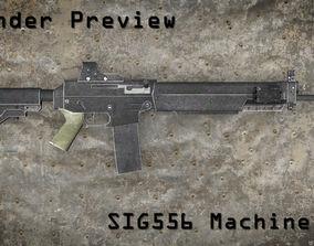 SIG 556 Machine Gun 3D model
