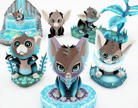 Cartoon Cute Cat 3D model