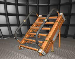 Sci-Fi Stairs - 8 - Orange Version 3D model