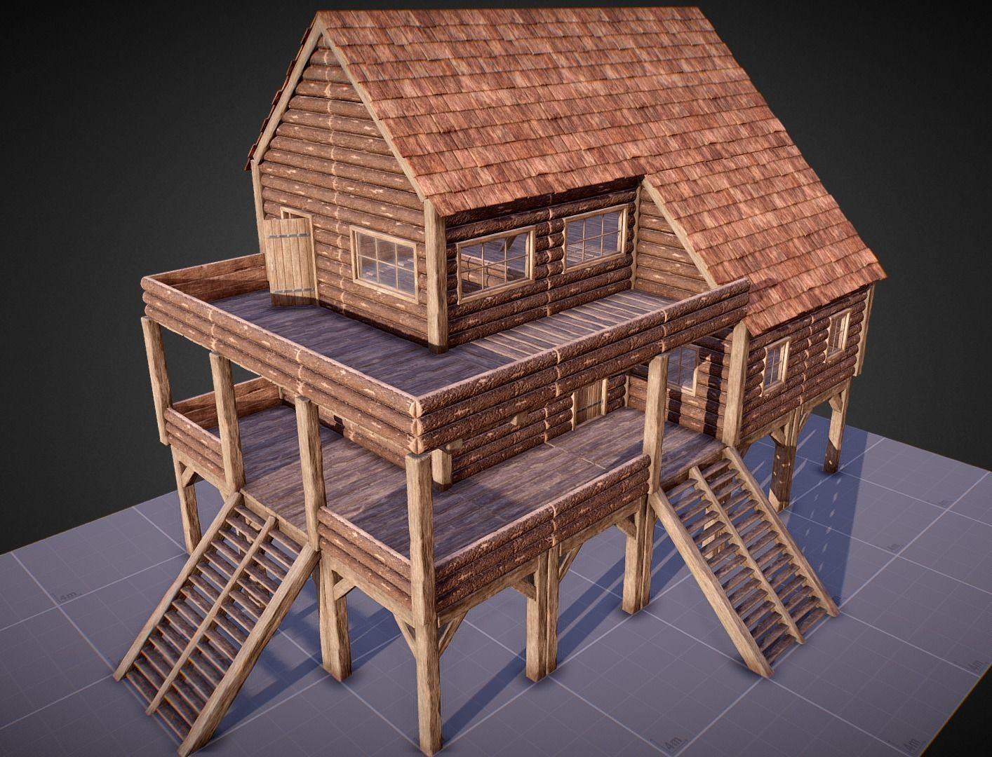 Survival Base Wooden Modular House