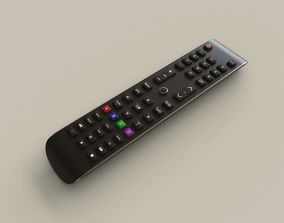 3D asset Smart TV Remote