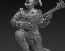 Old musician for 3d printing