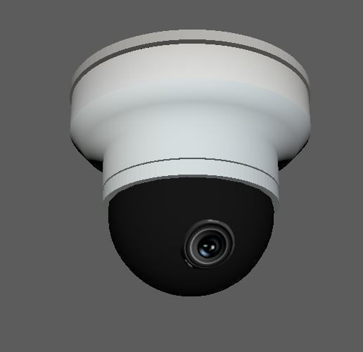 Dome Security Camera low poly