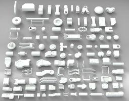 3D model Hard Surface Sci-Fi Industrial KitBash V-3
