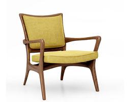 3D model Vladimir Kagan Sculpted Pull Up chair 175C