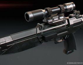 cosplay 3D printable model Westar 35 carabine