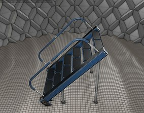 Sci-Fi Stairs - 20 - Blue Version 3D model