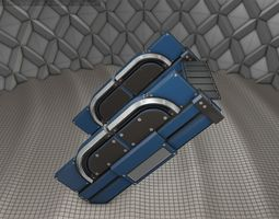 Sci-Fi Stairs - 22- Blue Version 3D model game-ready