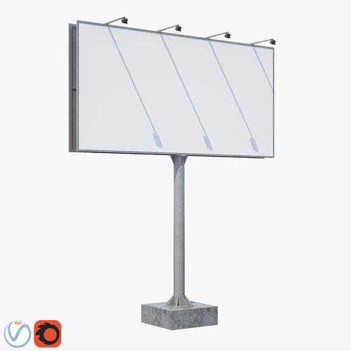 billboard  3d model max obj mtl 1