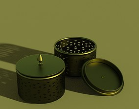 3D Decorative Metal Container for Knicknacks or Change