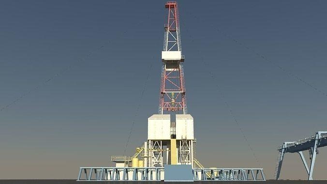 drilling rig 3d model fbx ma mb 1