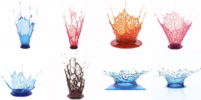 crowns splash set 3d model max obj mtl fbx stl 1