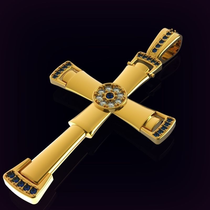 Cross encrusted with gems