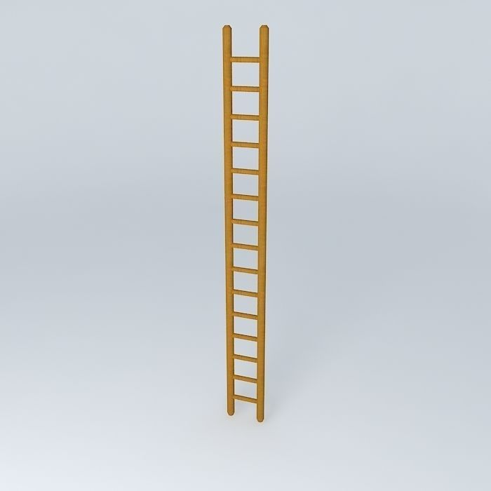 Wooden Ladder Free 3D Model .max .obj .3ds .fbx .stl .dae