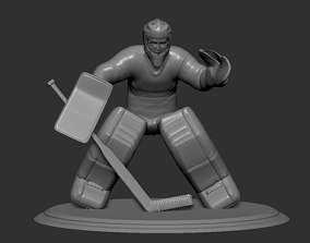 Hockey Player goalie Collectible Figure Statue 3D Print 2