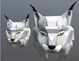 Trophy head Lynx 3D printable model