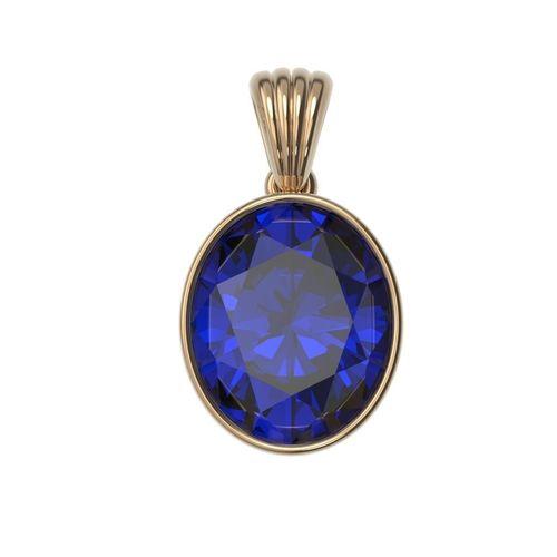 classic pendant necklaces gold silver  bezel oval 12x10 3d model obj mtl 3ds stl 3dm 1